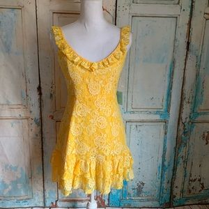 Forever 21 lacy dress yellow